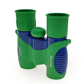 Green Shockproof 8x21 Kids Binoculars For Bird Watching / Learning Star